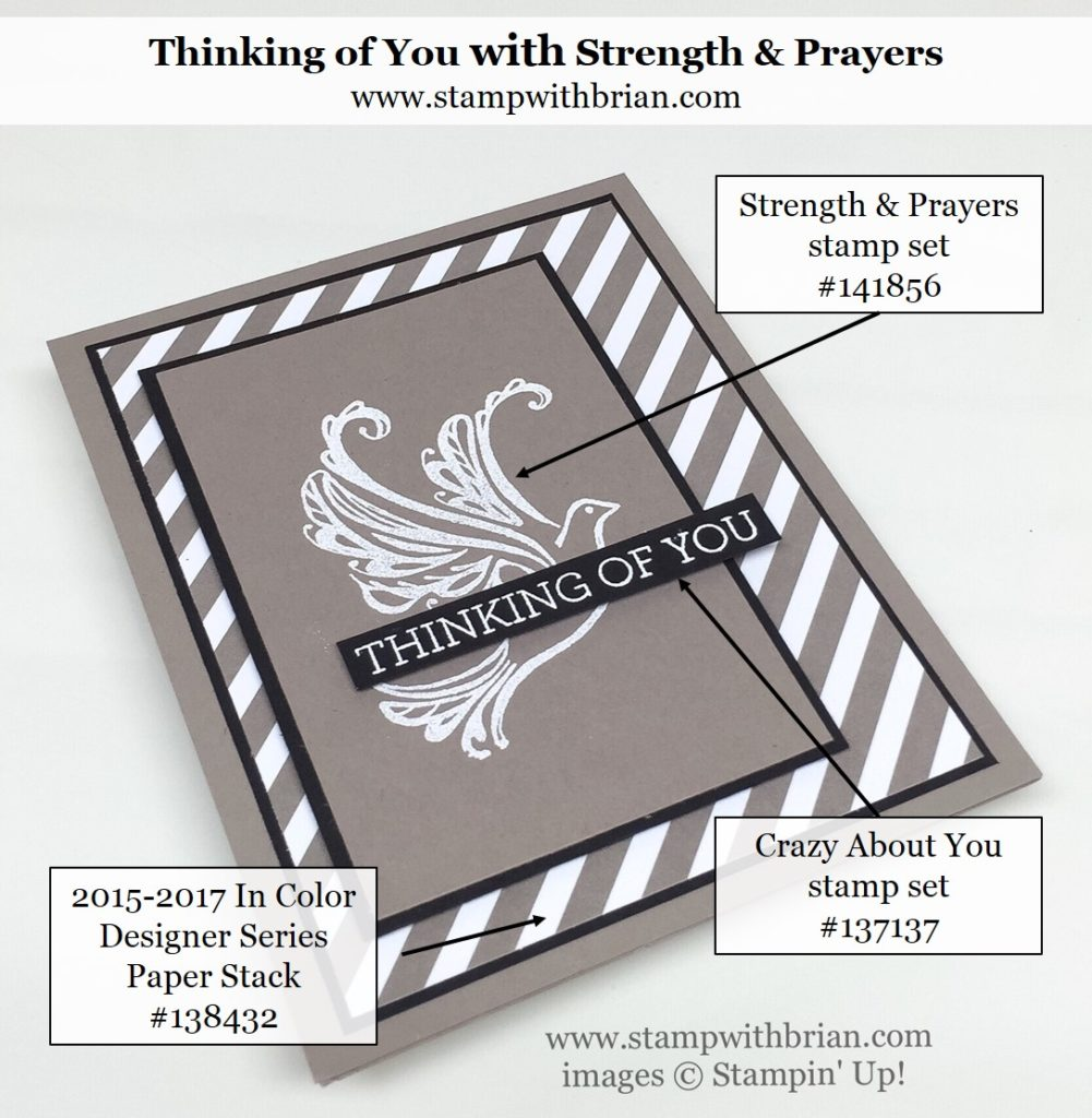 Strength & Prayers, Crazy About You, Stampin' Up!, Brian King