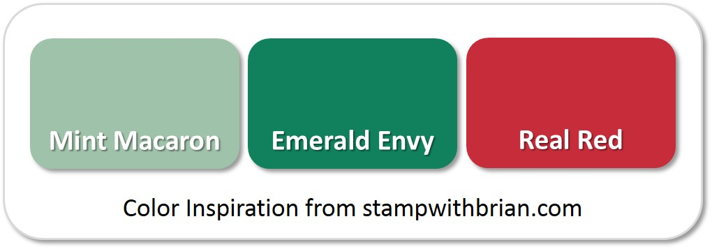 Stampin' Up! Color Inpsiration: Mint Macaron, Emerald Envy, Real Red