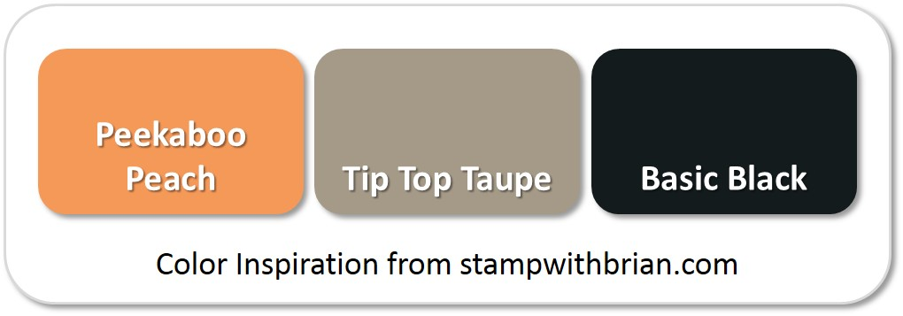 Stampin' Up! Color Inspiration: Peekaboo Peach, Tip Top Taupe, Basic Black