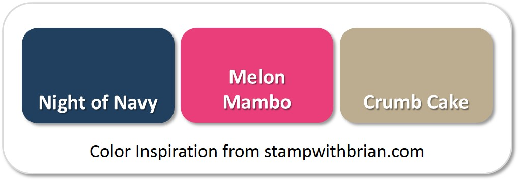 Stampin' Up! Color Inspiration: Night of Navy, Melon Mambo, Crumb Cake