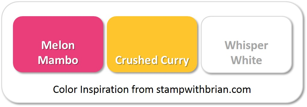Stampin' Up! Color Inspiration: Melon Mambo, Crushed Curry, Whisper White