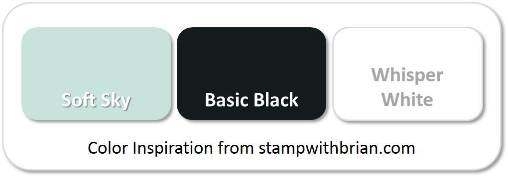 Stampin' Up! Color Inspiration: Soft Sky, Basic Black, Whisper White