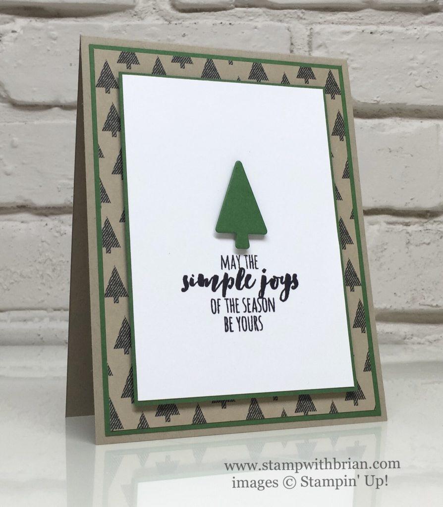 Christmas Pines, Warmth & Cheer Designer Series Paper Stack, Stampin' Up!, Brian King