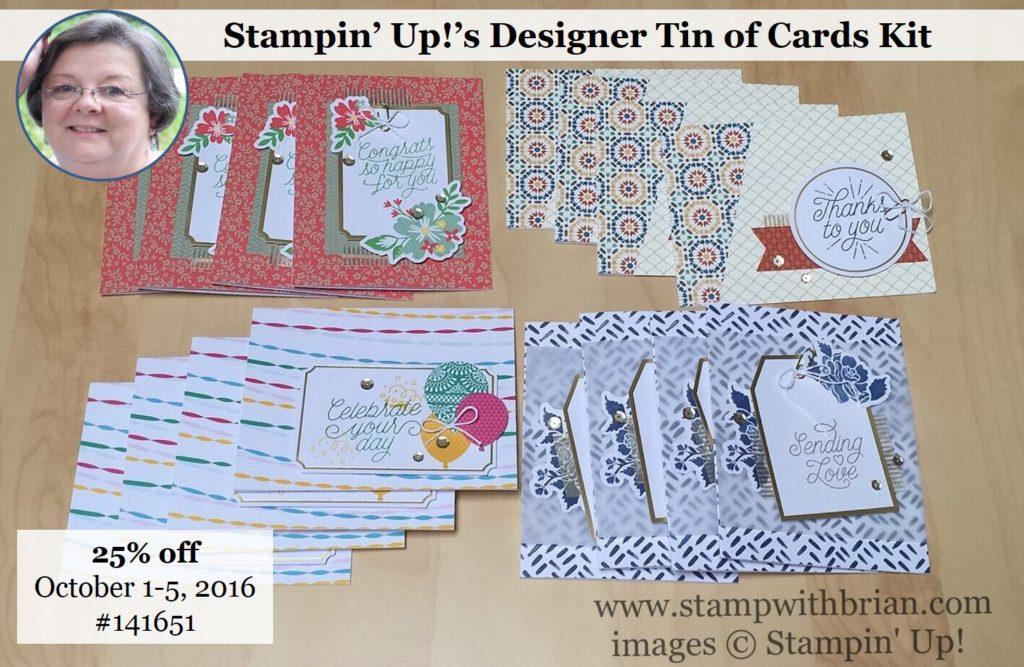 Designer Tin of Cards, Stampin' Up!