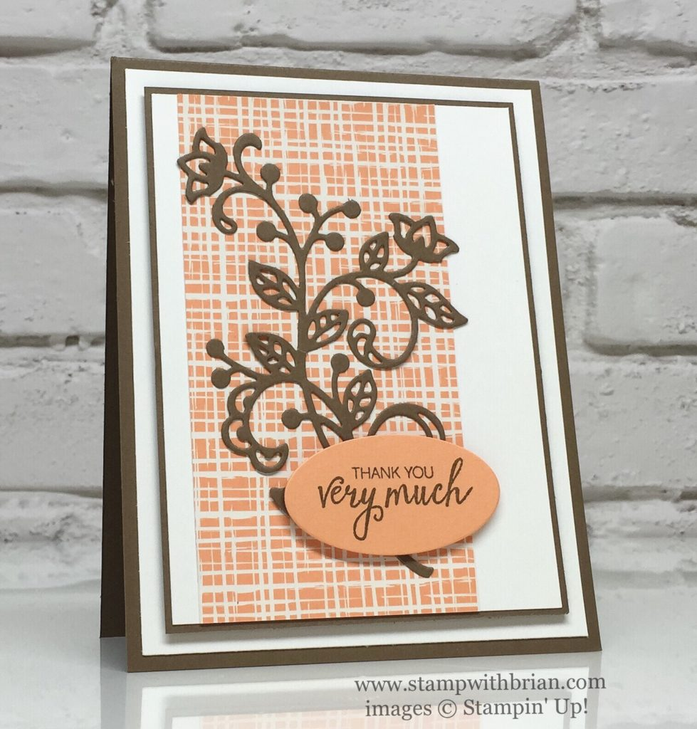 Flourish Thinlits Bunch of Blossoms Stampin' Up! Brian King, CTS193