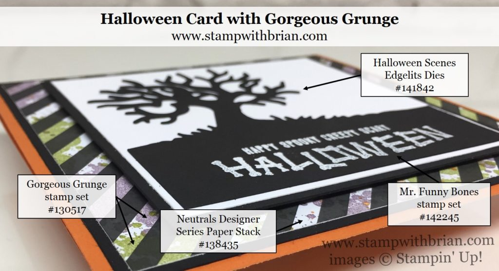 Halloween Scenes Edgelits, Mr Funny Bones, Gorgeous Grunge, Stampin' Up!, Brian King