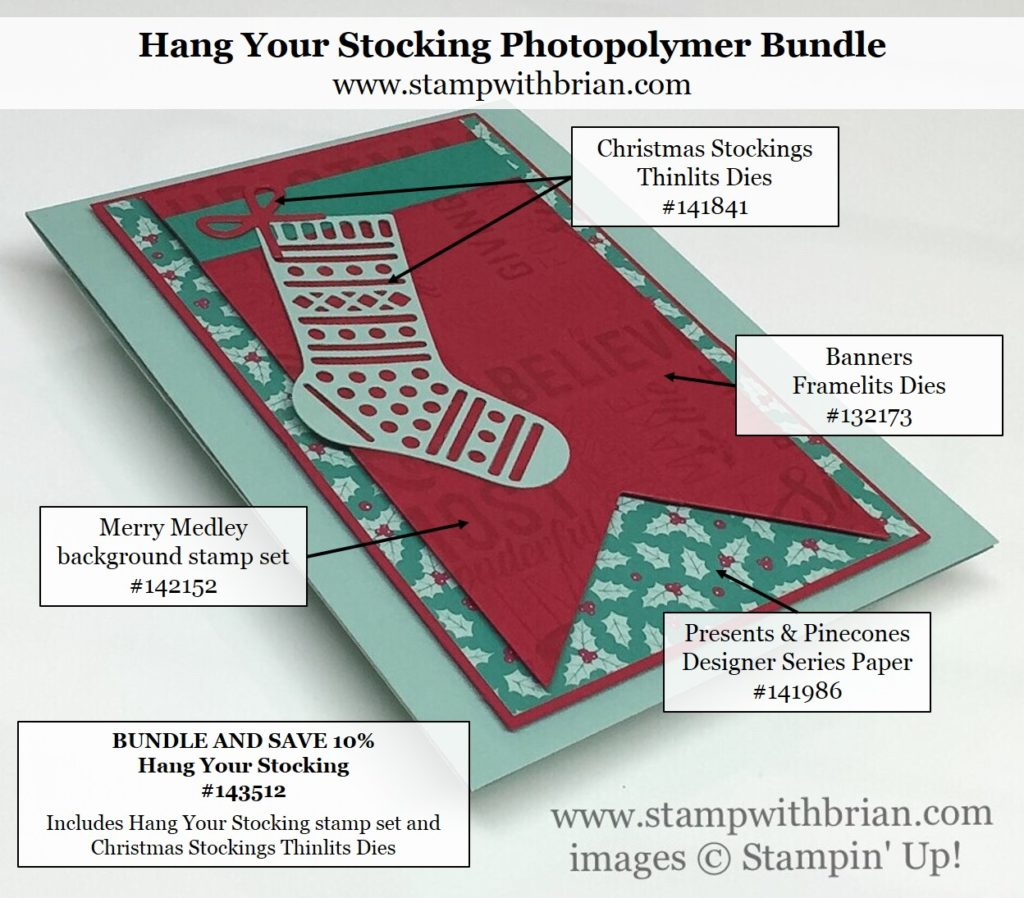 Hang Your Stocking, Mery Medley, Stampin' Up!, Brian King, FMS256