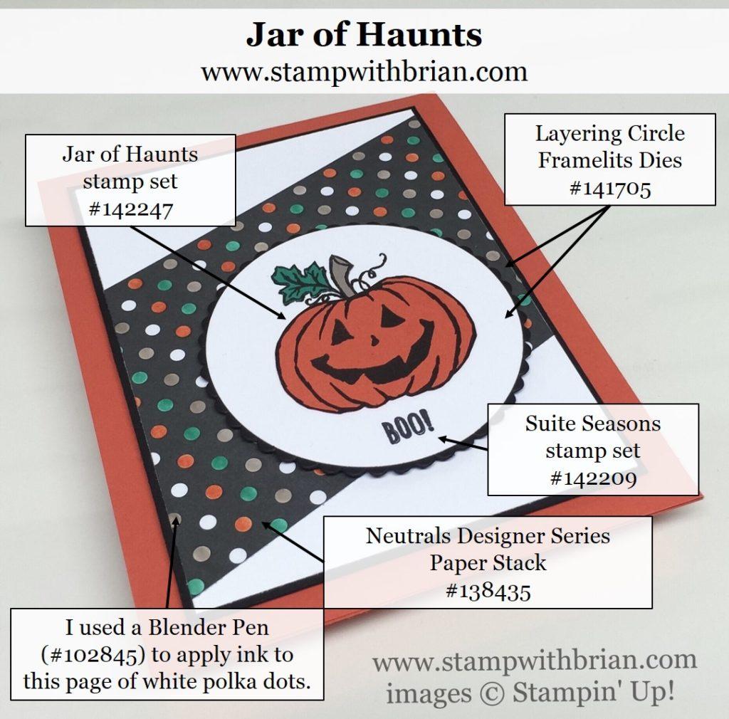 Jar of Haunts, Suite Seasons, Stampin' Up!, Brian King