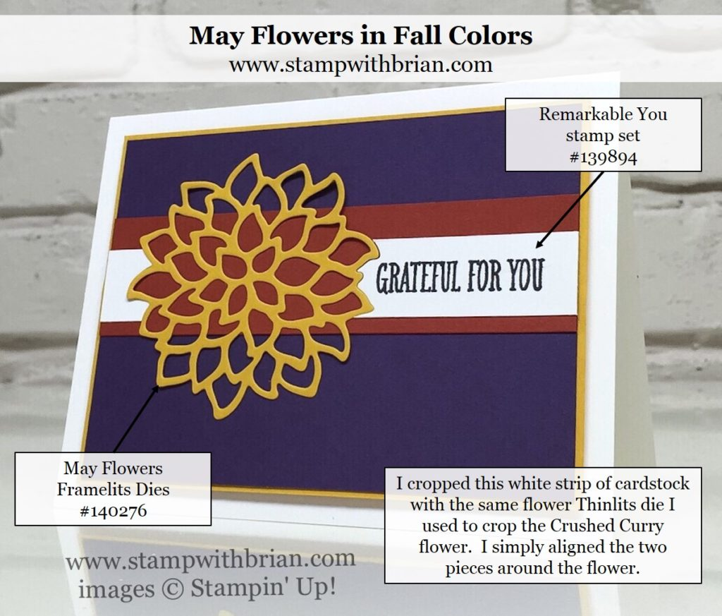 May Flowers Framelits, Remarkable You, Stampin' Up!, Brian King, PPA321