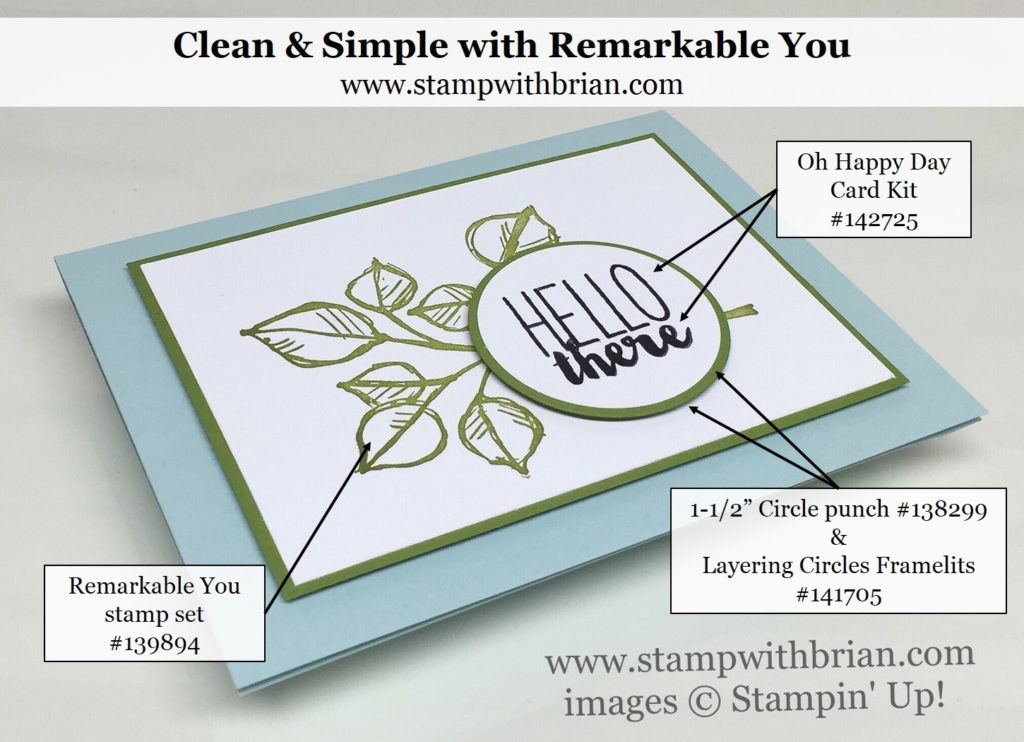 Remarkable You, Oh Happy Day Card Kit, Stampin' Up!, Brian King