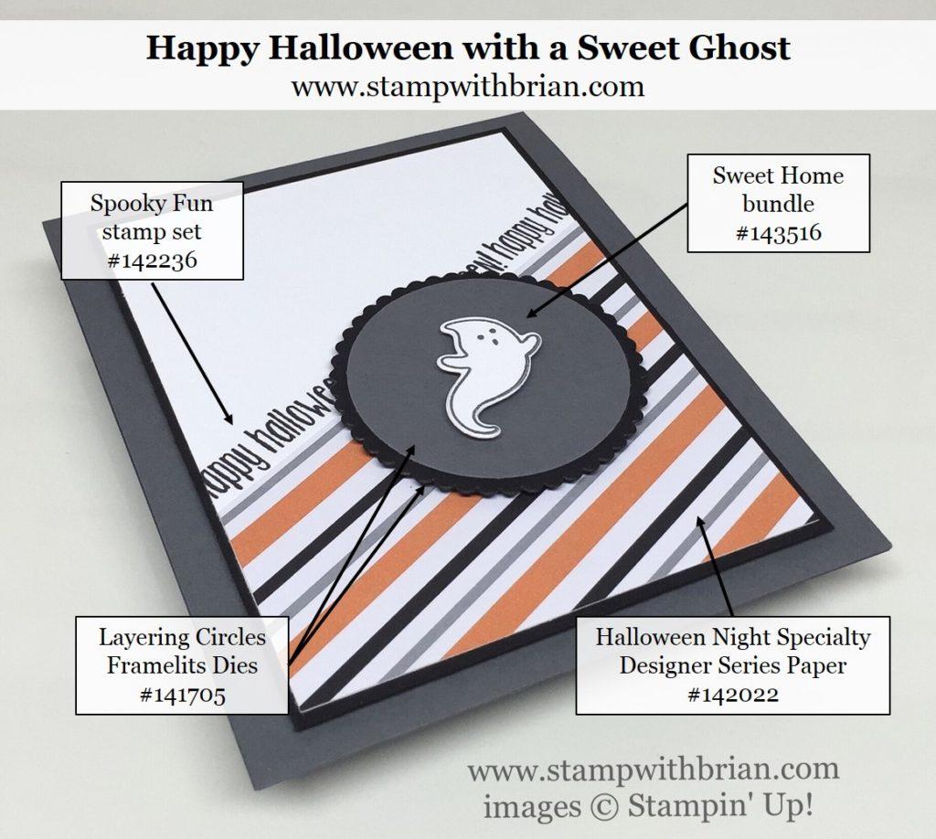 Spooky Fun, Sweet Home, Stampin' Up!, Brian King, Halloween card