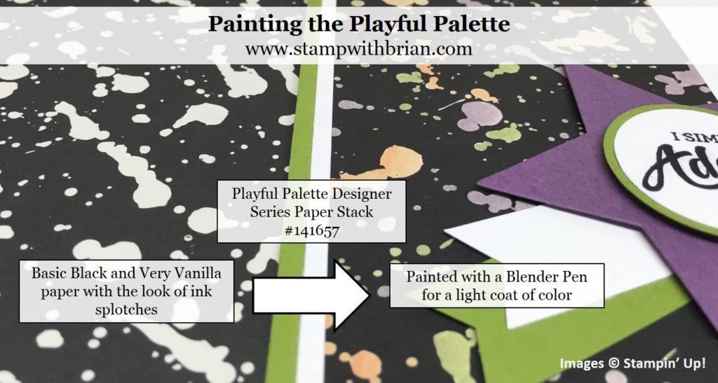 Use a Blender Pen to lightly color a page of Playful Palette Designer Series Paper Stack, Stampin' Up!