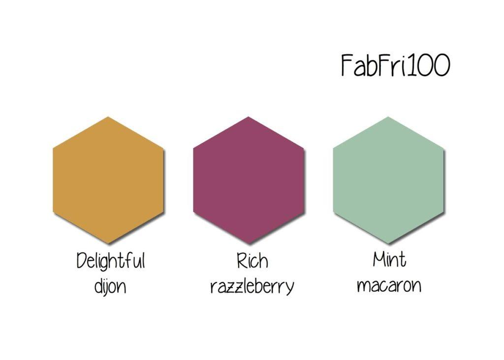 Stampin' Up! Color Inspiration: Delightful Dijon, Rich Razzleberry, Mint Macaron