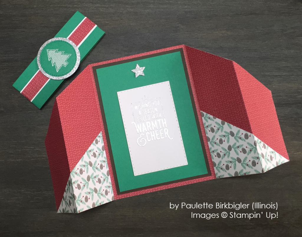 by Paulette Birkbigler, Stampin' Up!, double gate fold card
