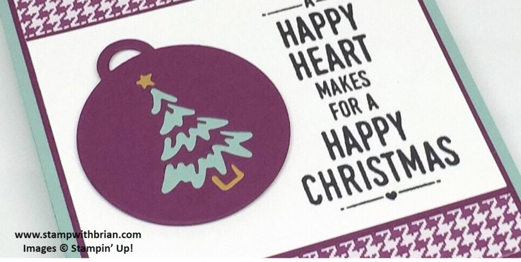 Suite Sayings, Merry Tags Framelits Dies, Stampin' Up!, Brian King, FabFri100, Christmas Card