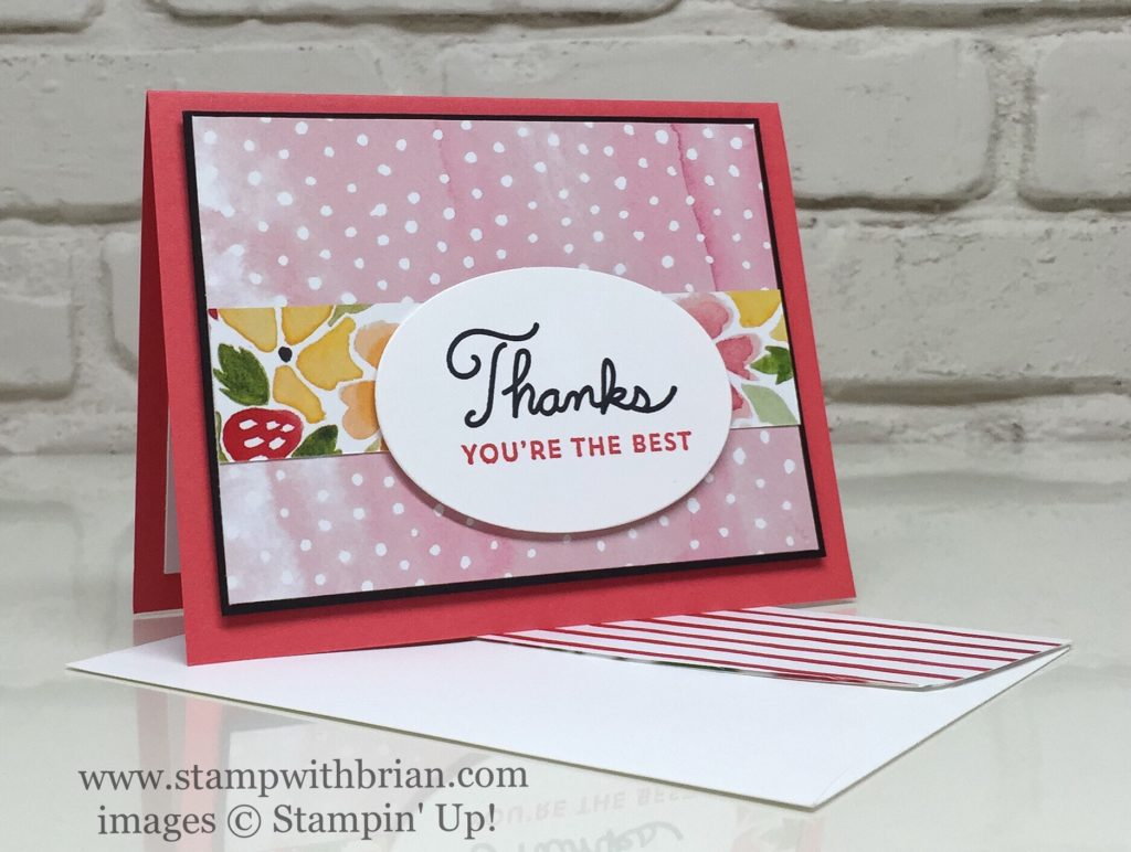 Thank You Cards With Fruit Stand Designer Series Paper Stamp With