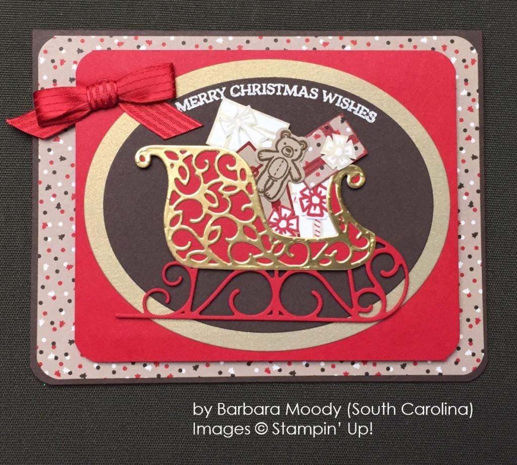 by Barbara Moody, Santa's Sleigh, Stampin' Up!