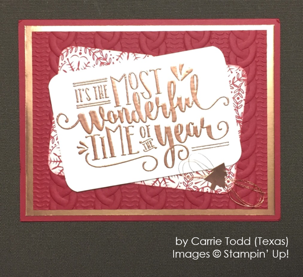 by Carrie Todd, Wonderful Year, Stampin' Up!