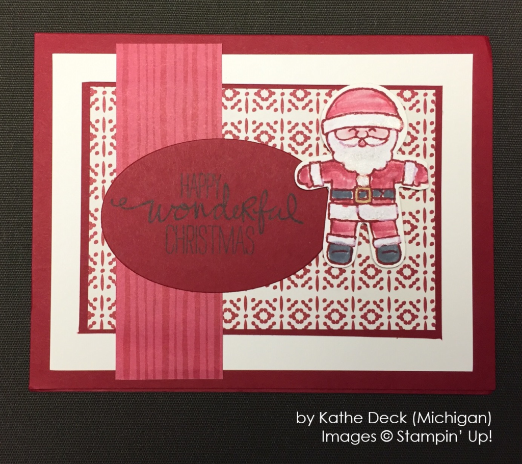 by Kathe Deck, Stampin' Up!, Holiday One-for-One Swap