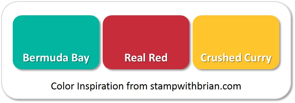 Stampin' Up! Color Inspiration: Bermuda Bay, Real Red, Crushed Curry