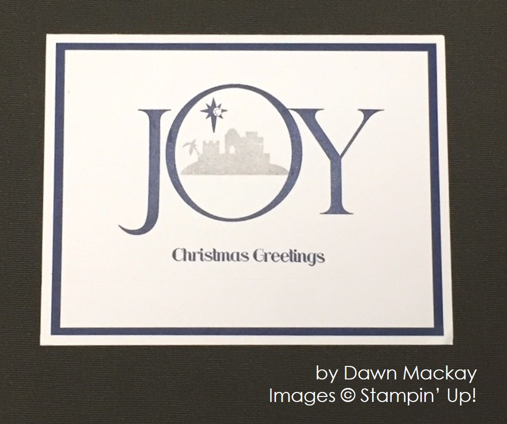 by Dawn Mackay, Stampin' Up!, Christmas cards