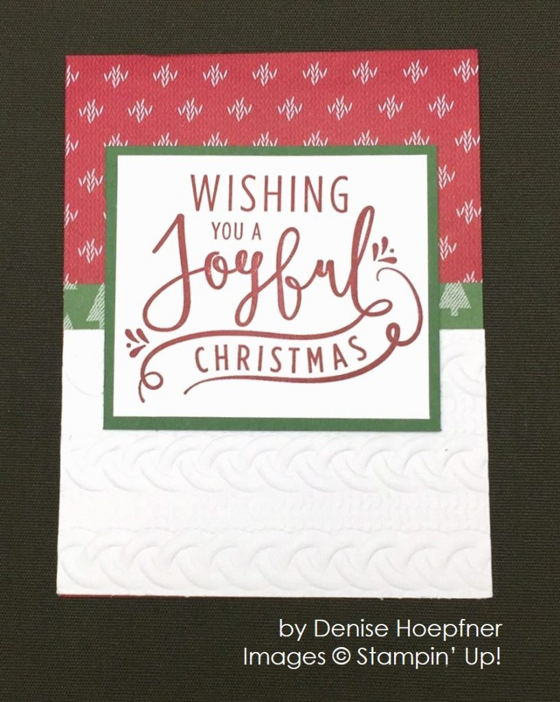 by Denise Hoefner, Stampin' Up!, Christmas cards