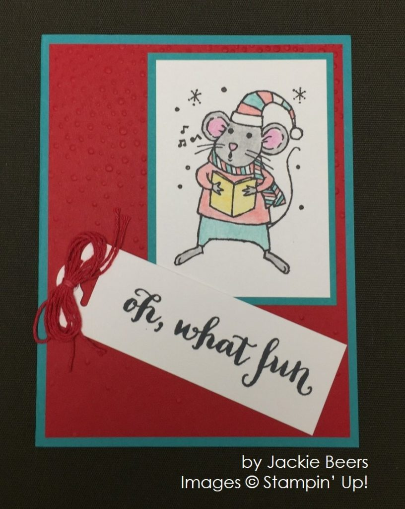 by Jackie Beers, Stampin' Up!, Christmas cards