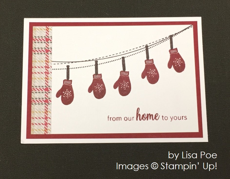 by Lisa Poe, Stampin' Up!, Christmas cards