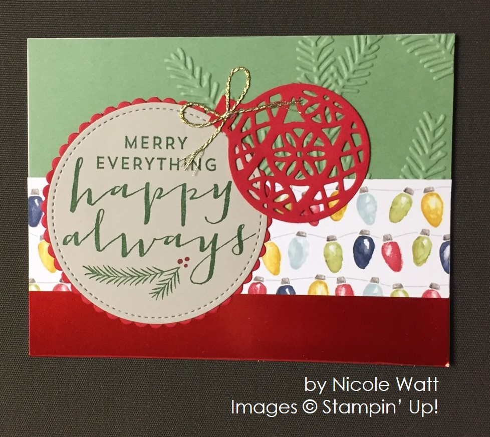 by Nicole and Brian Watt, Stampin' Up!, Christmas cards