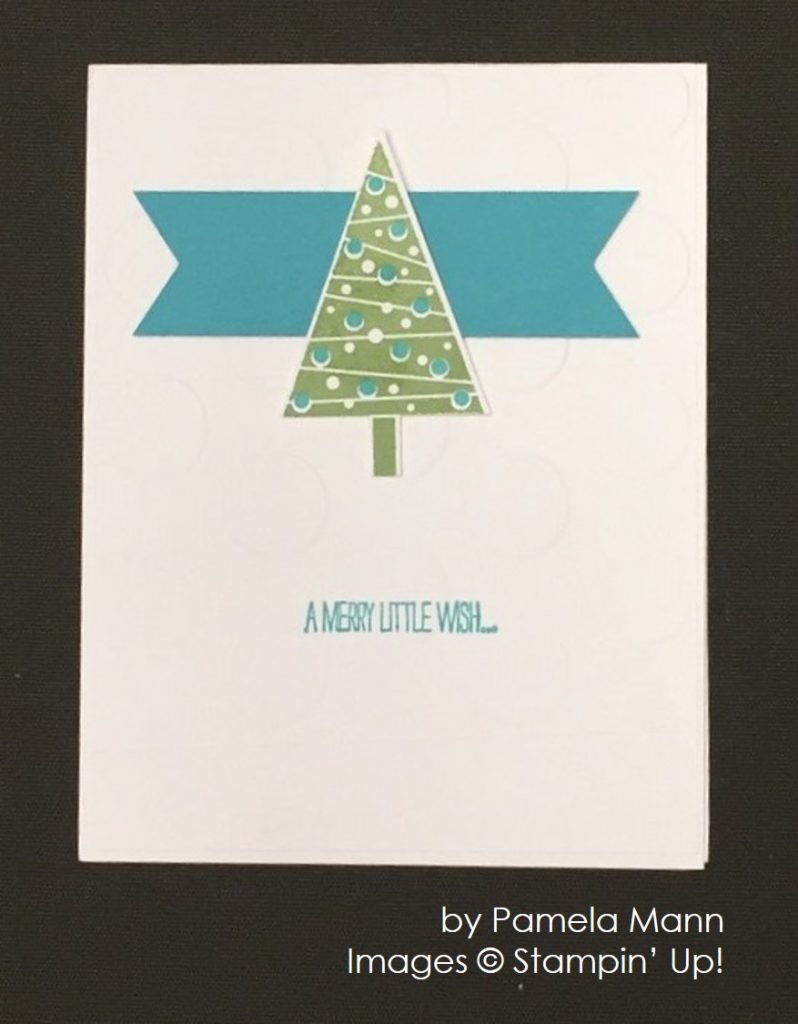 by Pamela Mann, Stampin' Up!, Christmas cards