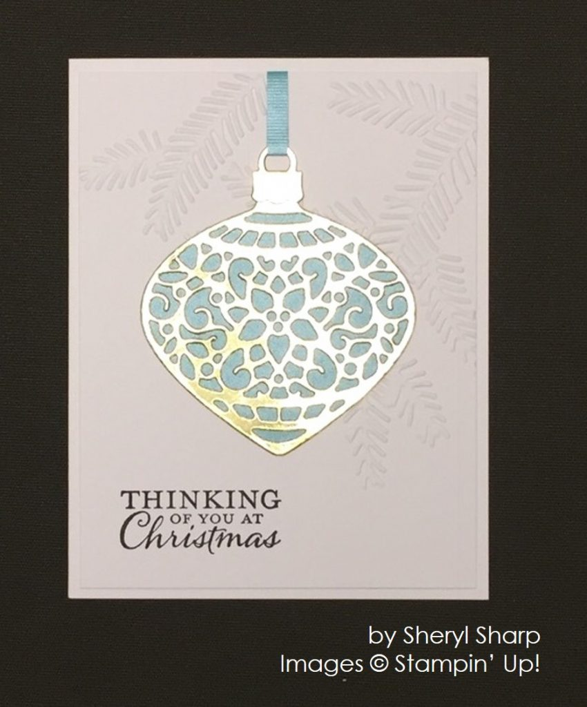by Sheryl Sharp, Stampin' Up!, Christmas cards
