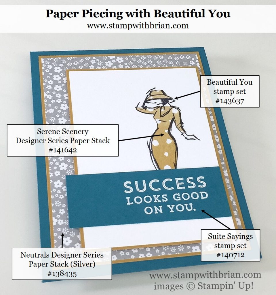 Beautiful You, Suite Sayings, Stampin' Up!, Brian King, GDP069