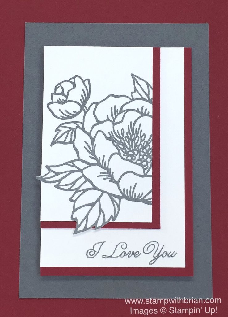 Birthday Blooms, Sealed with Love, Stampin' Up!, Brian King, PP328, CTS205, Valentine's Day card