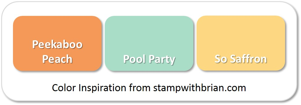 Stampin' Up! Color Inspiration: Peekaboo Peach, Pool Party, So Saffron