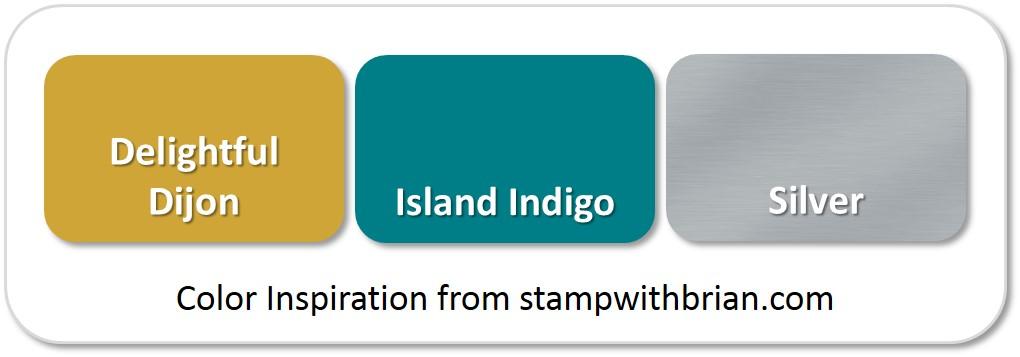 Stampin' Up! Color Inspiration: Delightful Dijon, Island Indigo, Silver