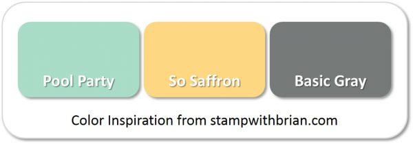 Stampin' Up! Color Inspiration: Pool Party, So Saffon, Basic Gray