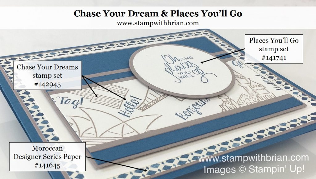 Chase Your Dreams, Places You'll Go, Stampin' Up!, Brian King