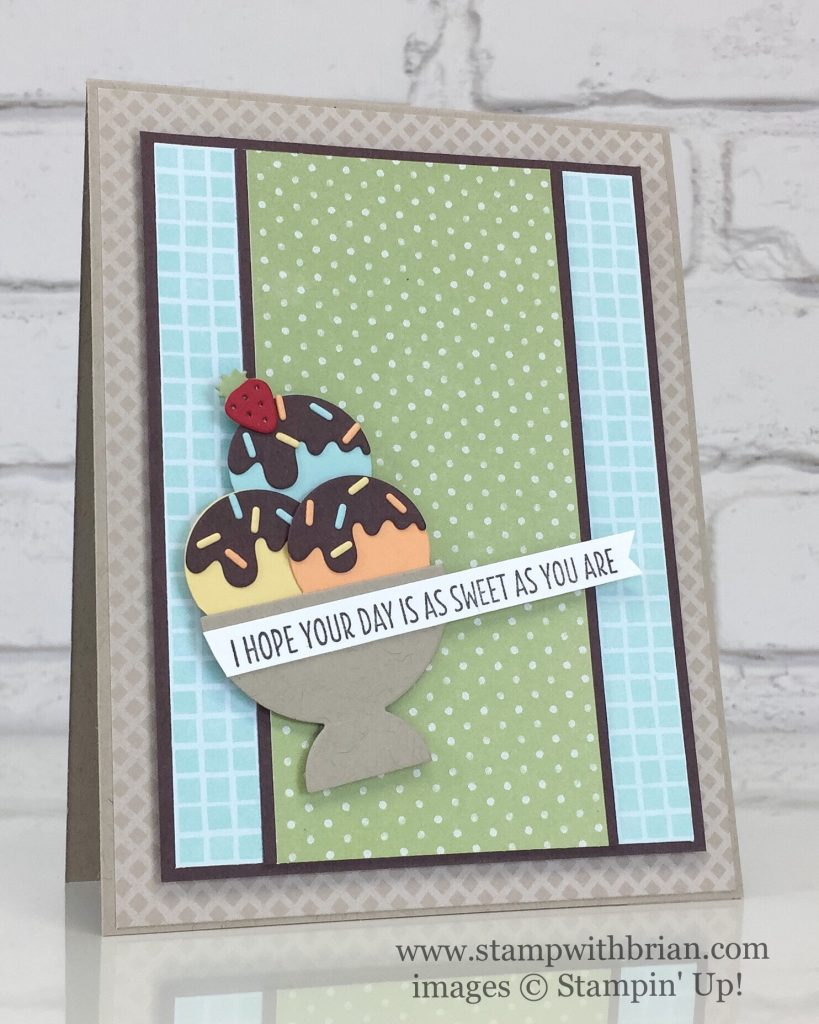 Cool Treats, Frozen Treats Framelits Dies, Tasty Treats Specialty Designer Series Paper, Stampin' Up!, Brian King, Fusion Challenge