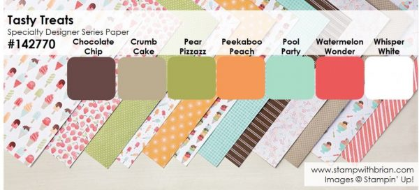 Tasty Treats Specialty Designer Series Paper Stack, Stampin' Up!, Brian King