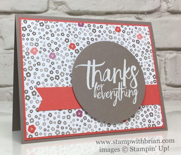 All Things Thanks, Succulent Garden Designer Series Paper, Stampin' Up!, Brian King, thank you card