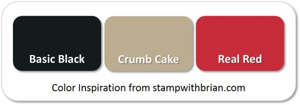 Stampin' Up! Color Inspiration: Basic Black, Crumb Cake, Real Red