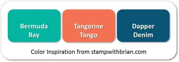 Stampin' Up! Color Inspiration: Bermuda Bay, Tangerine Tango, Dapper Denim