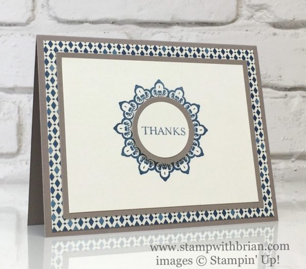 Make a Medallion, Moroccan Designer Series Paper, Stampin' Up!, Brian King