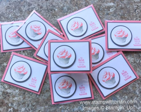 Sweet Cupcake, Suite Sentiments, Layering Circles, Stampin' Up!, Brian King, thank you card