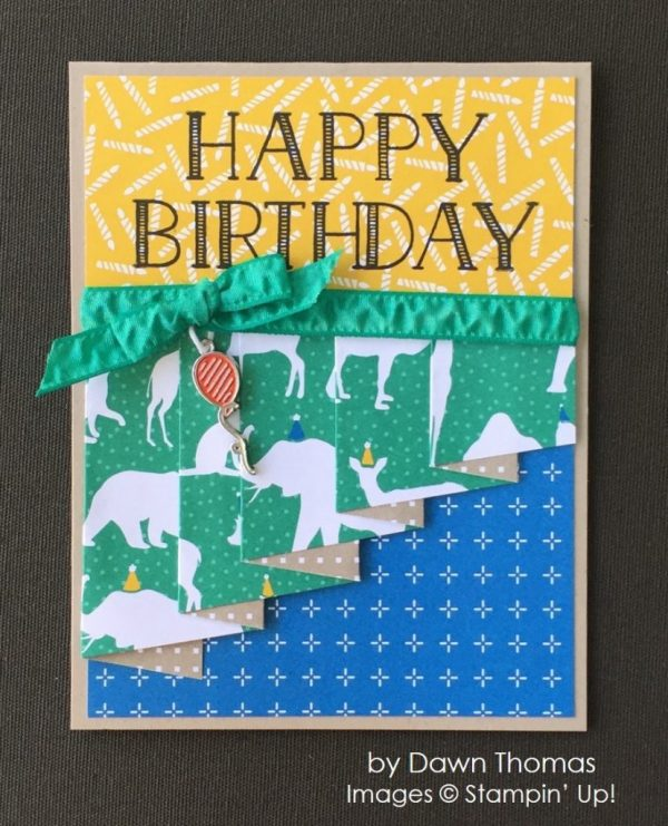 by Dawn Thomas, Stampin' Up! swap, Bithday Card