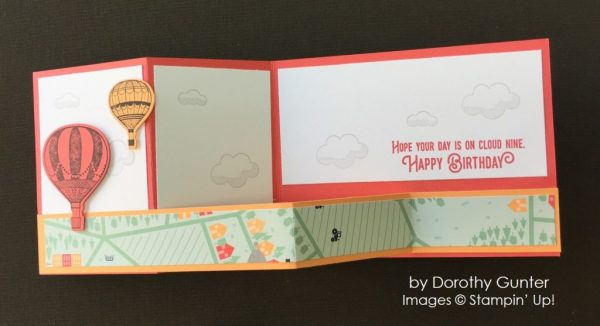 by Dorothy Gunter, Stampin' Up! swap, bithday card