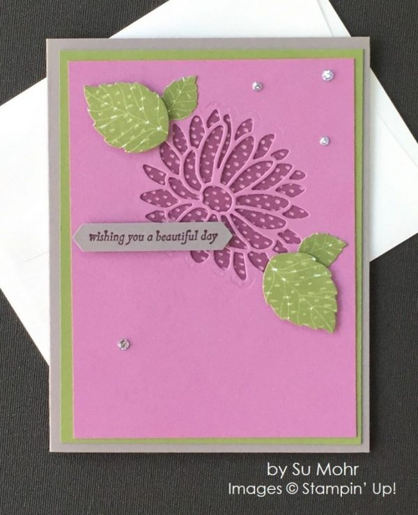 by Su Mohr, Stampin' Up! swap, thinking of you card