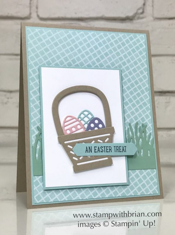 Basket Bunch, Stampin' Up!, Brian King, GDP080, Easter card