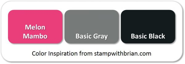 Stampin' Up! Color Inspiration: Melon Mambo, Basic Gray, Basic Black
