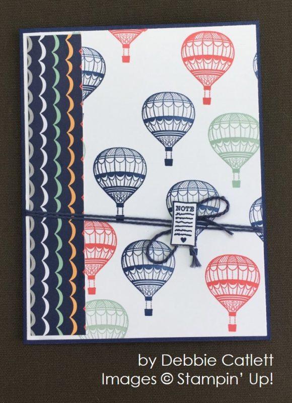 by Debbie Catlett, Stampin' Up! swap card